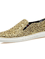 Men's Shoes Glitter Fall Winter Comfort Loafers & Slip-Ons For Casual Party & Evening Silver Black Gold