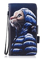 For Case Cover Card Holder Wallet with Stand Flip Magnetic Pattern Full Body Case Cat Hard PU Leather for Samsung Galaxy J5 (2016) J5