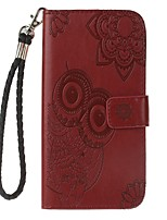 cheap -Case For OnePlus Card Holder Wallet with Stand Flip Pattern Embossed Full Body Cases Owl Hard PU Leather for One Plus 5