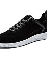 Men's Shoes Synthetic Microfiber PU Fall Winter Comfort Sneakers Lace-up For Casual Gray Black