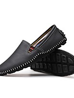Men's Shoes PU Spring Fall Moccasin Loafers & Slip-Ons For Casual Blue Brown Black