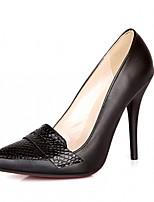 Для женщин Обувь Дерматин Полиуретан Весна Осень Удобная обувь Оригинальная обувь Обувь на каблуках На шпильке Заостренный носок В горошек