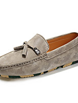 Men's Shoes Suede Fall Winter Moccasin Loafers & Slip-Ons For Casual Party & Evening Gray Beige Black