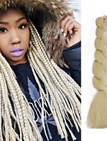 Trecce extra large Trecce di capelli L'Avana Treccine a boccoli 100% capelli kanekalon Capelli 100% Kanekalon Bianco Blu Verde Giallo