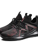 Da uomo Scarpe PU (Poliuretano) Primavera Autunno Comoda scarpe da ginnastica Corsa Lacci Per Casual Nero Bianco/nero Nero/Rosso