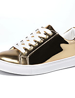 Women's Shoes Leatherette Spring Fall Comfort Sneakers Walking Shoes Platform Round Toe Lace-up For Casual Outdoor Silver Gold