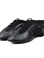Men's Jazz Cowhide Heel Training Low Heel Black Under 1