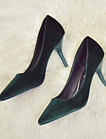 Women's Shoes Fleece Spring Summer Basic Pump Heels Stiletto Heel Pointed Toe For Office & Career Dress Green Brown Black