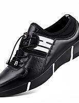 Da uomo Scarpe Pelle Nappa Autunno Inverno Comoda scarpe da ginnastica Lacci Per Sportivo Casual Bianco Nero