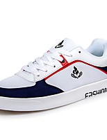Men's Shoes PU Fall Winter Comfort Sneakers Lace-up For Casual Blue Red Black