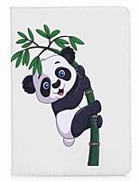 Para iPad 10.5 Carcasa Funda Soporte de Coche Cartera con Soporte Flip Diseños Magnética Cuerpo Entero Funda Oso Panda Dura Cuero