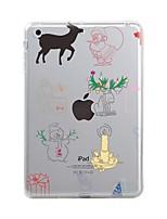 Недорогие -Назначение iPad (2017) iPad 10.5 iPad Pro 12,9 '' Чехлы панели Прозрачный С узором Задняя крышка Кейс для Рождество Мягкий Термопластик