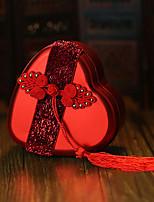 6 Suportes para Lembrancinhas-Forma de Coração Metal Caixas de Ofertas Jarros e Garrafas para Doces Caixas de Presente