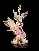 Color Changing Swan LED Light Up Figurine Party Home Holiday Decorations Night Light Lighted