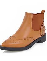Femme Chaussures Polyuréthane Automne Hiver Confort Nouveauté Bottes à la Mode Botillons Bottes Talon Plat Bout pointu Bottine/Demi Botte