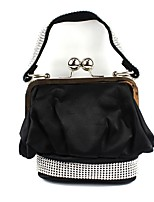 Women Bags All Seasons Silk Tote Ruffles for Wedding Event/Party Black