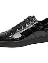 Men's Shoes PU Spring Fall Comfort Sneakers Lace-up For Casual Silver Black