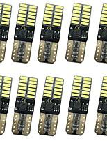 10PCS 12W 1000LM T10 Can-bus Error Free LED Lights 3 Colors Selective