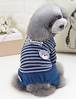 Dog Clothes/Jumpsuit Dog Clothes Casual/Daily Stripe Red Gray