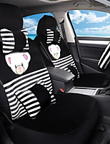 Cartoon Plush Car Seat Cushion Seat Cover Seat In Autumn And Winter Surrounded By A Five Seat-Stripe