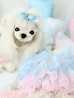 Dog Dress Dog Clothes Casual/Daily Princess Yellow Blue Blushing Pink