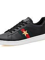 Da uomo Scarpe Tulle PU (Poliuretano) Primavera Autunno Comoda Sneakers Lacci Per Casual Bianco Nero