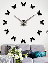 Modern/Contemporary Asian Theme Fashion Wall Clock,Round Stainless Steel + A Grade ABS Mixed Material Indoor/Outdoor Indoor Clock