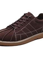 Для мужчин обувь Кашемир Весна Осень Удобная обувь Кеды Шнуровка Назначение Повседневные Черный Серый Коричневый Вино