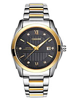 Men's Mechanical Watch Automatic self-winding Calendar Alloy Band Casual Silver Gold
