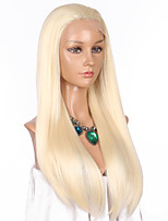 Women Synthetic Wig Lace Front Long Straight Blonde Natural Hairline Celebrity Wig Natural Wigs Costume Wig