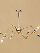 Northern Europe Modern Retro Chandelier 6 heads Metal Electroplated Molecules Pendant Lights Bedroom Light Fixture