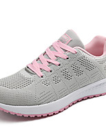 Women's Shoes PU Fall Winter Comfort Sneakers For Casual Outdoor Blushing Pink Gray Black