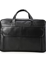 Men Bags All Seasons Cowhide Briefcase Pockets Zipper for Casual Office & Career Black