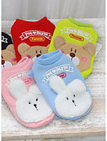 Dog Sweatshirt Dog Clothes Casual/Daily Cartoon Blushing Pink Blue Green Red Black