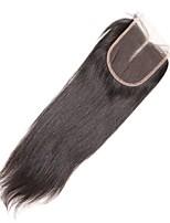 1 peça 4x4 malaysian cabelo liso laço tecer fechamento cabelo não processado remy cabelo nodoso nó top fechamentos parte do meio
