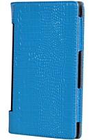 para lenovo yoga tab3 850m / yt3-850 estojo de grão de crocodilo de luxo com suporte flip caixa de corpo cheio couro sólido couro suave