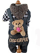 Dog Clothes/Jumpsuit Dog Clothes Casual/Daily Cartoon Red Black