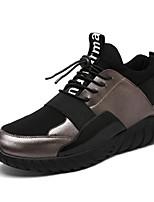 Da uomo Scarpe Tessuto Estate Autunno Comoda Suole leggere Sneakers Elastico Per Casual Oro Nero