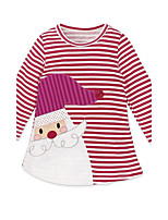 Girl's Casual/Daily Going out Striped Dress,Cotton Fall All Seasons Long Sleeve