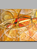 Hand-Painted Animal Horizontal,Artistic Modern/Contemporary Office/Business Christmas New Year's One Panel Canvas Oil Painting For Home