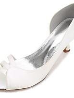 Women's Shoes Satin Spring Summer D'Orsay & Two-Piece Basic Pump Comfort Wedding Shoes Low Heel Kitten Heel Stiletto Heel Cone Heel Peep