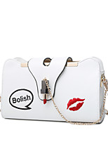 Women Bags All Seasons PU Shoulder Bag for Event/Party Casual White Black Blushing Pink