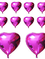 10pcs - 10inch Fuchsia Heart Shaped Balloons Beter Gifts® DIY Party Decoration