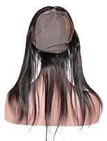 360 pizzo frontale con la protezione della parrucca capelli diritti umani brasiliani 100% capelli umani remy 10-20