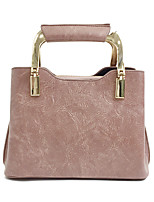 Women Bags All Seasons PU Tote Zipper for Casual Office & Career Black Blushing Pink Army Green