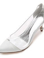 Femme Chaussures de mariage chaussures Transparent Nouveauté Escarpin Basique Bride de Cheville Printemps Eté Cuir PVC Satin Mariage