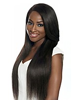 Women Human Hair Lace Wig Brazilian Human Hair Lace Front 130% Density Straight Wig Medium Brown Dark Brown Black Long