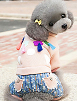 Dog Clothes/Jumpsuit Dog Clothes Casual/Daily Geometric Blushing Pink Yellow Purple