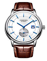 Men's Mechanical Watch Automatic self-winding Leather Band Black Brown