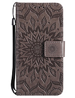 For iPhone X Case Cover Wallet Card Holder with Stand Flip Embossed Full Body Case Flower Hard PU Leather for Apple iPhone X